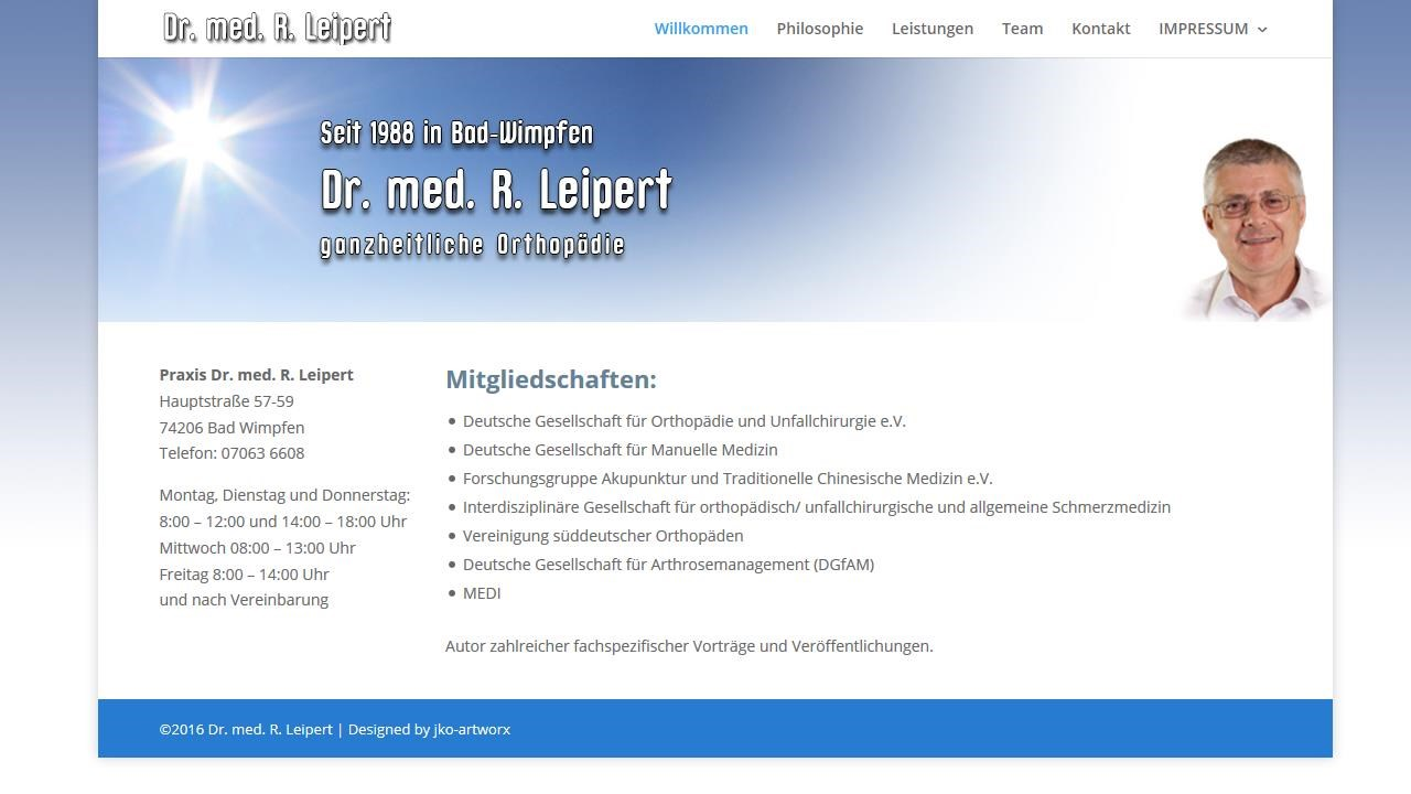 Dr. med. Rainer Leipert in Bad Wimpfen (Orthopäde) | WiWico