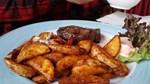 Rindersteak mit Kartoffelecken
