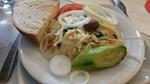 Salat mit Brot